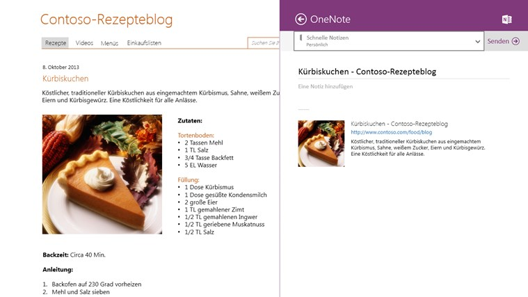 OneNote Screenshot 3