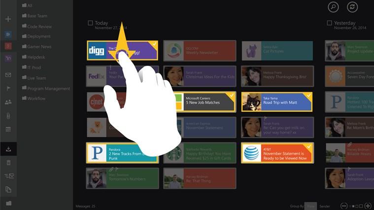 TouchMail captura de tela 1