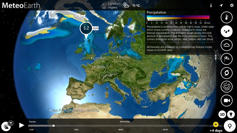 MeteoEarth screen shot 1
