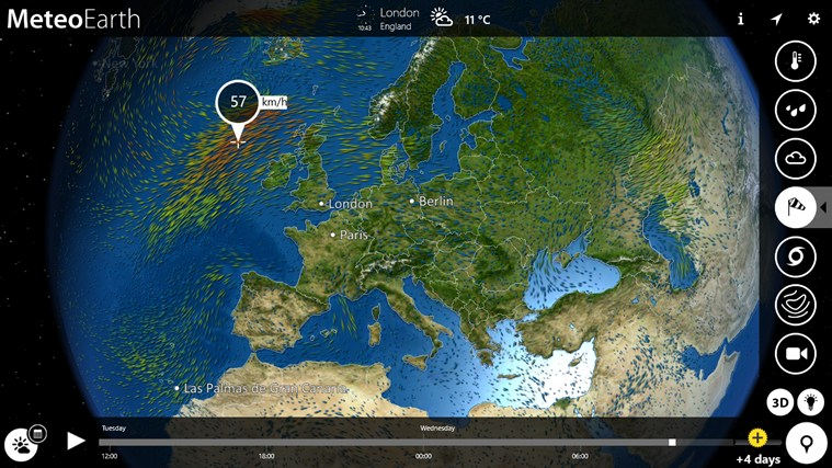 MeteoEarth screen shot 3