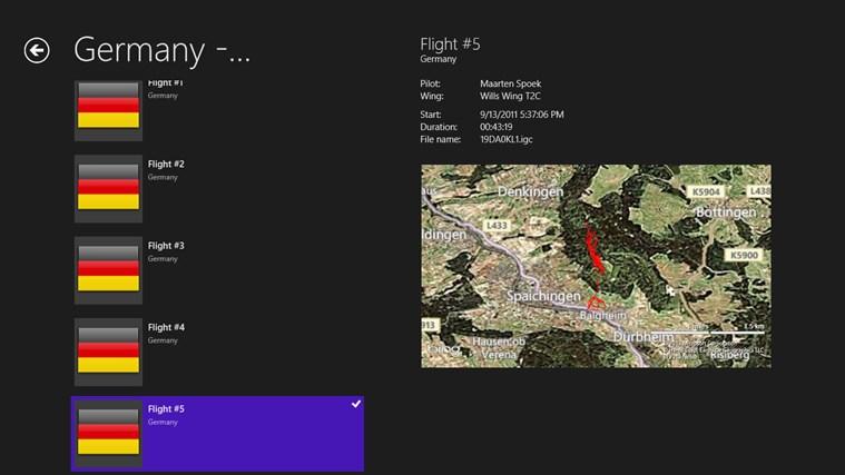 FlightLog posnetek zaslona 1
